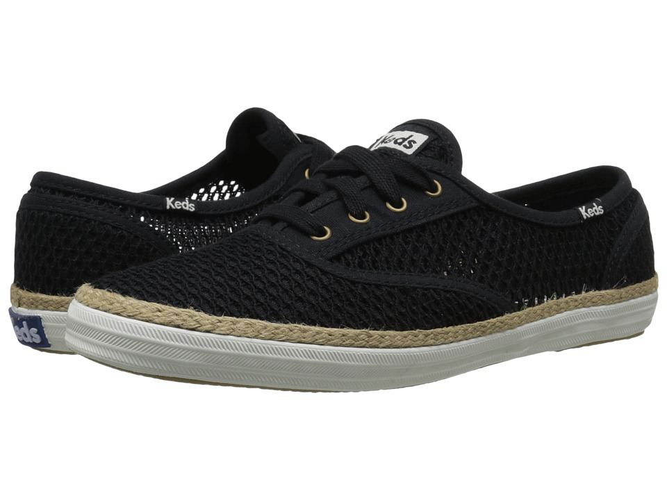 Keds - Champion Crochet (Black 2) Women's Lace up casual Shoes