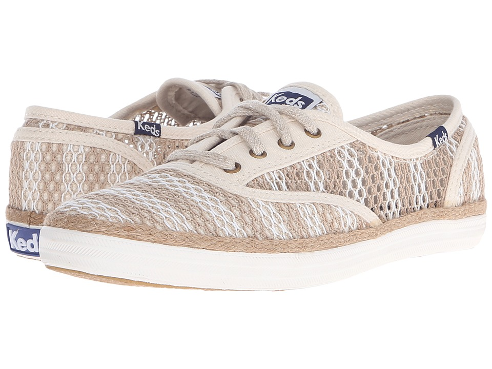 Keds - Champion Crochet Stripe (Natural/Cream) Women's Lace up casual Shoes
