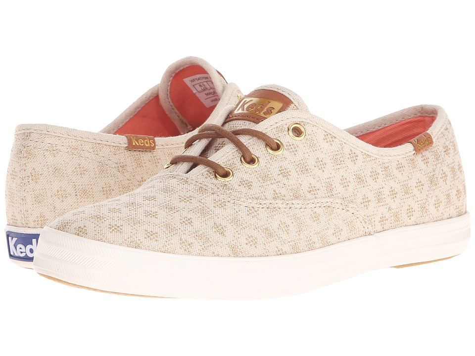 Keds - Champion Diamond Dot (Natural) Women's Lace up casual Shoes