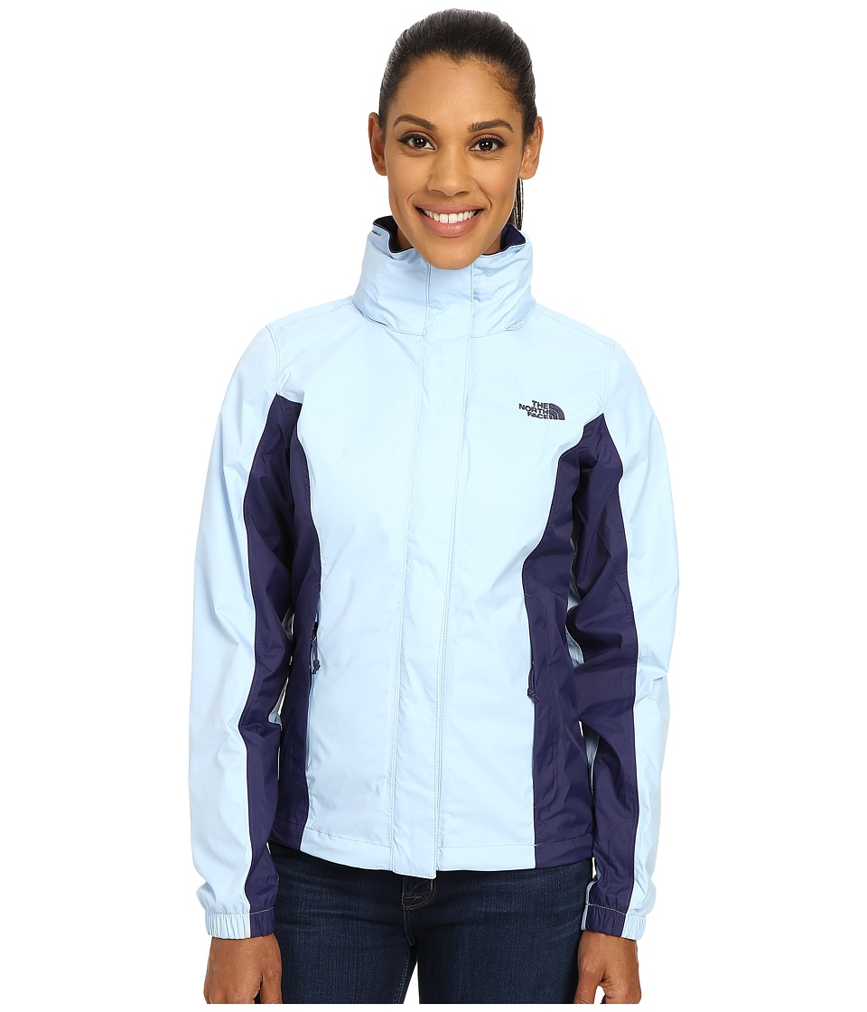 The North Face - Resolve Jacket (Powder Blue/Patriot Blue) Women's Coat