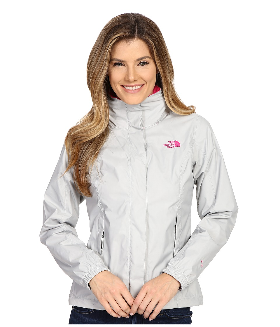 The North Face Resolve Jacket (High Rise Grey/Glo Pink) Women