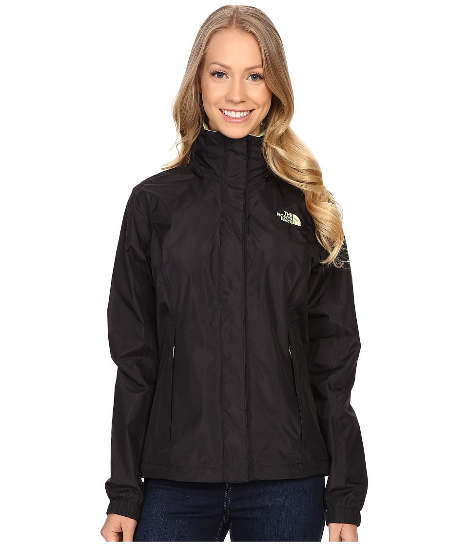 The North Face - Resolve Jacket (TNF Black/Budding Green) Women's Coat