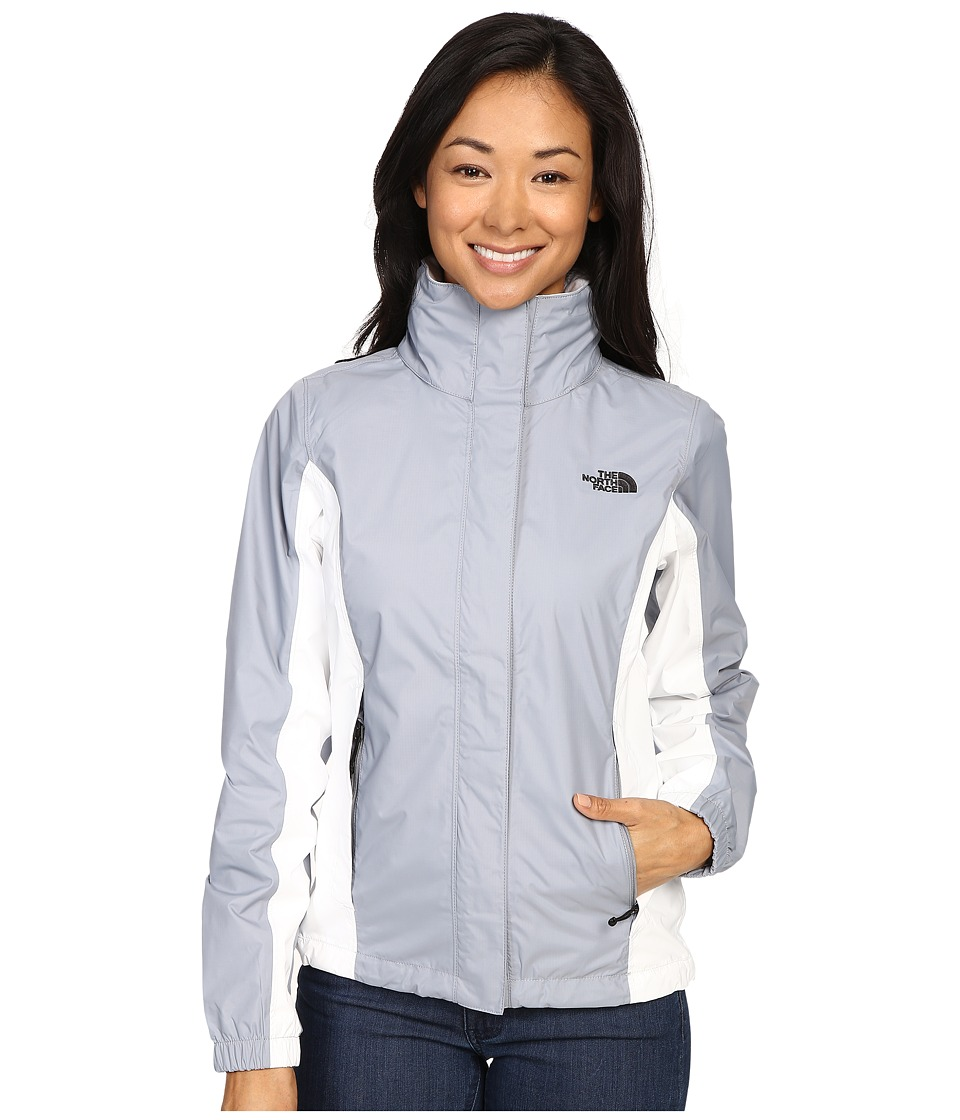 The North Face - Resolve Jacket (Mid Grey/TNF White) Women's Coat