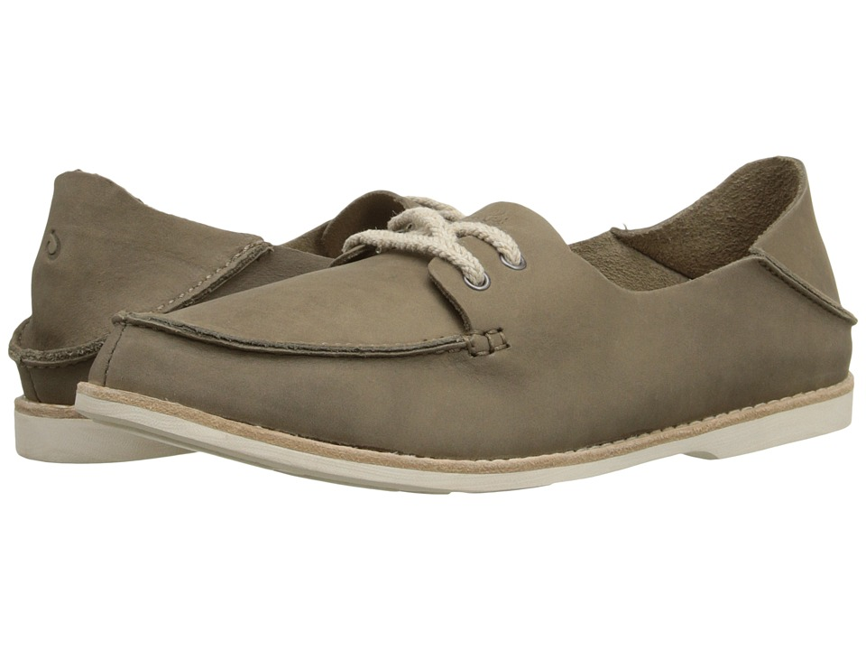 OluKai - Moku Leather (Clay/Clay) Women's Lace up casual Shoes