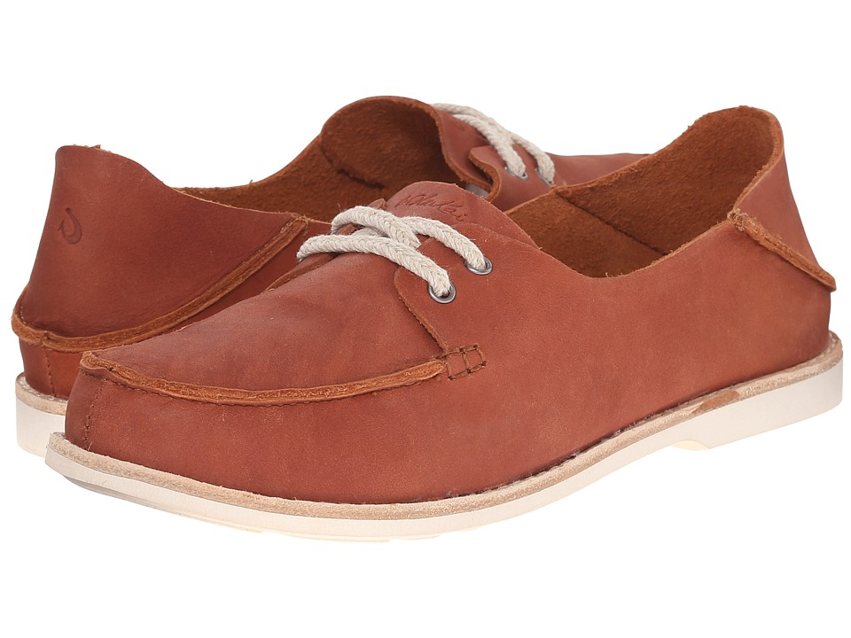 OluKai - Moku Leather (Koa/Koa) Women's Lace up casual Shoes