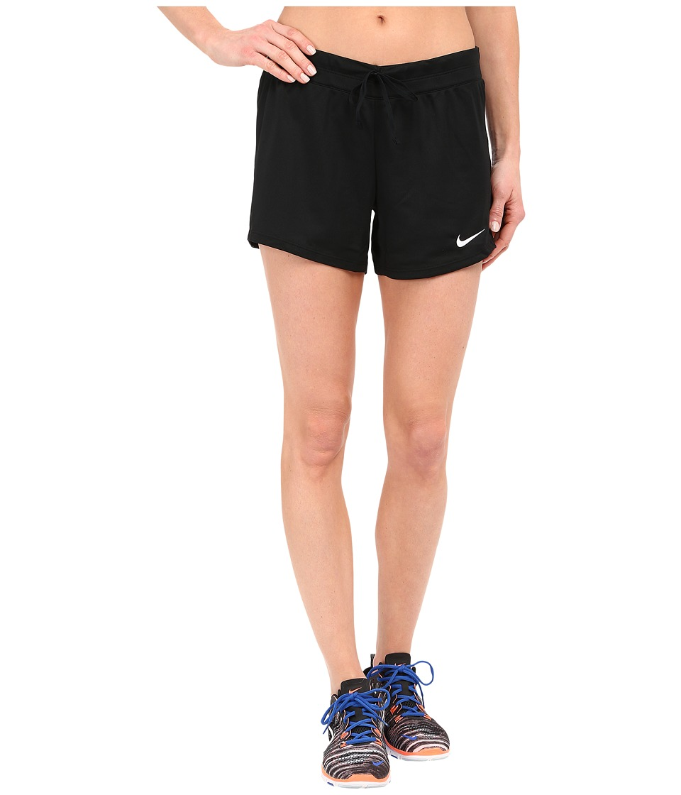 Nike - Infiknit Mid Shorts (Black/Black/Black/White) Women's Shorts