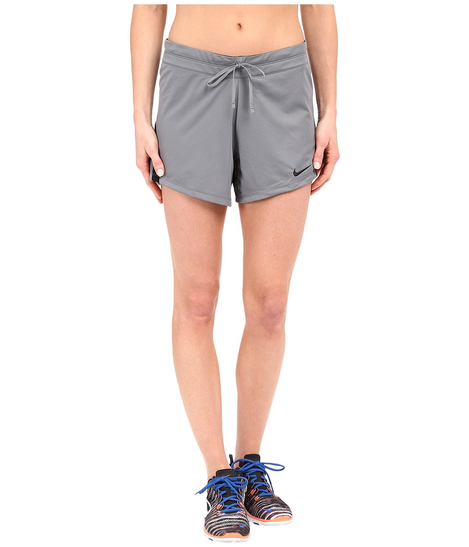 Nike - Infiknit Mid Shorts (Cool Grey/Black/Black/Black) Women's Shorts
