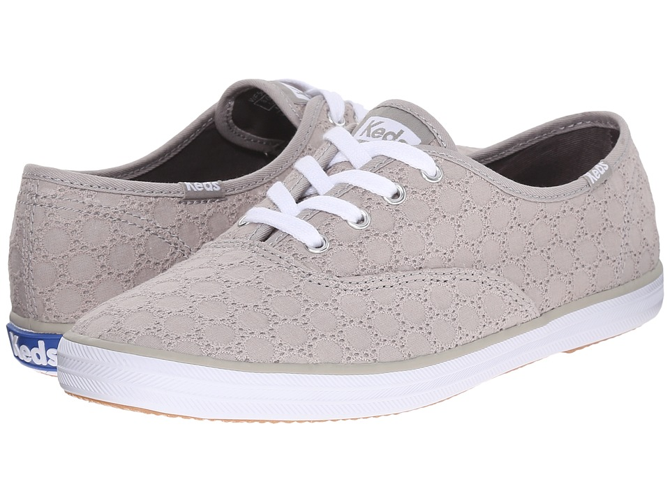 Keds - Champion Eyelet (Drizzle Gray) Women's Lace up casual Shoes