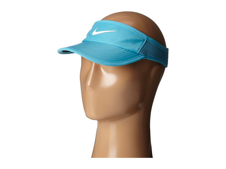 Nike - Featherlight Visor (Omega Blue/Black/White) Casual Visor