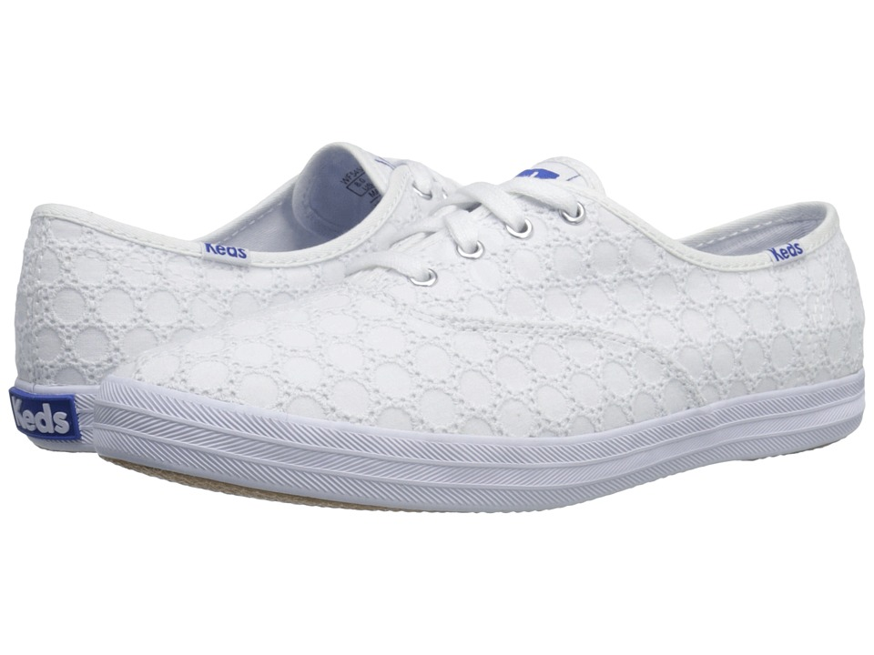 Keds - Champion Eyelet (White 1) Women's Lace up casual Shoes