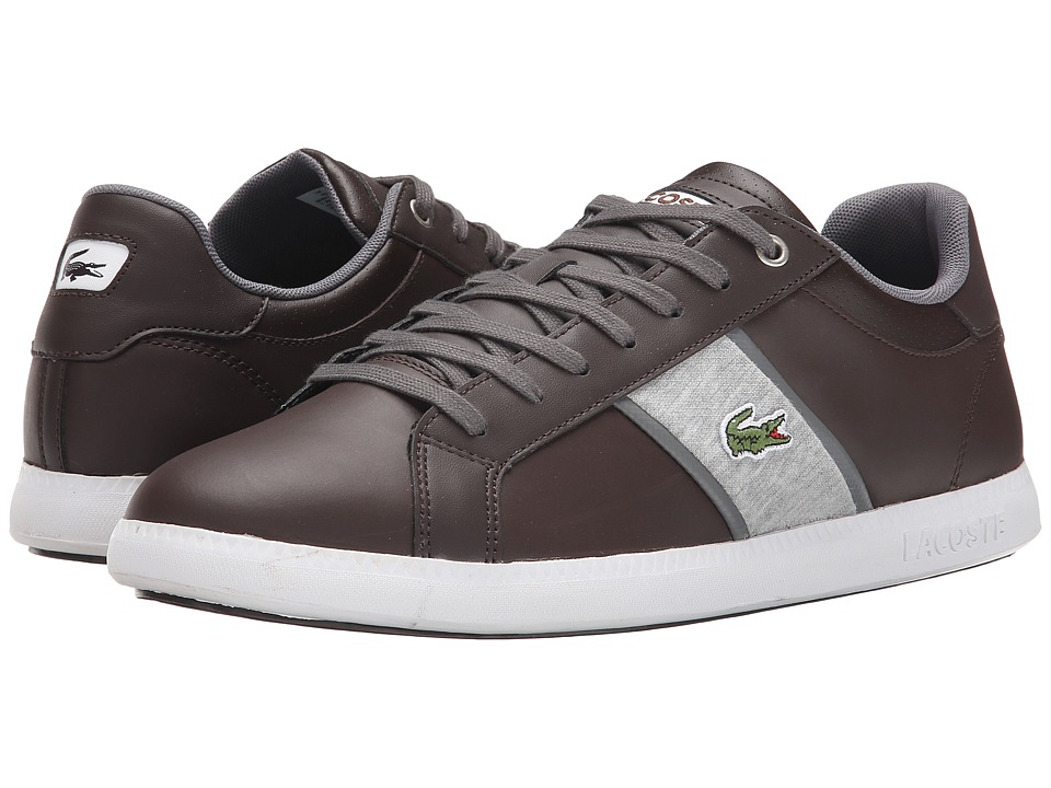 Lacoste - Graduate Evo GRV (Dark Brown/Dark Gray) Men's Shoes