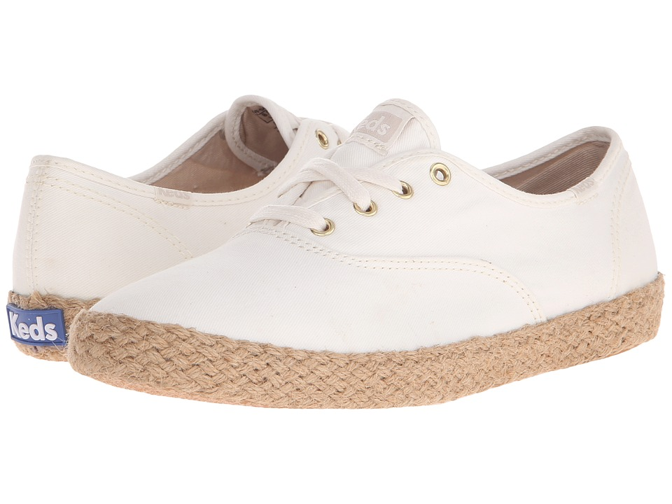 Keds - Champion Washed Jute (Birch) Women's Lace up casual Shoes