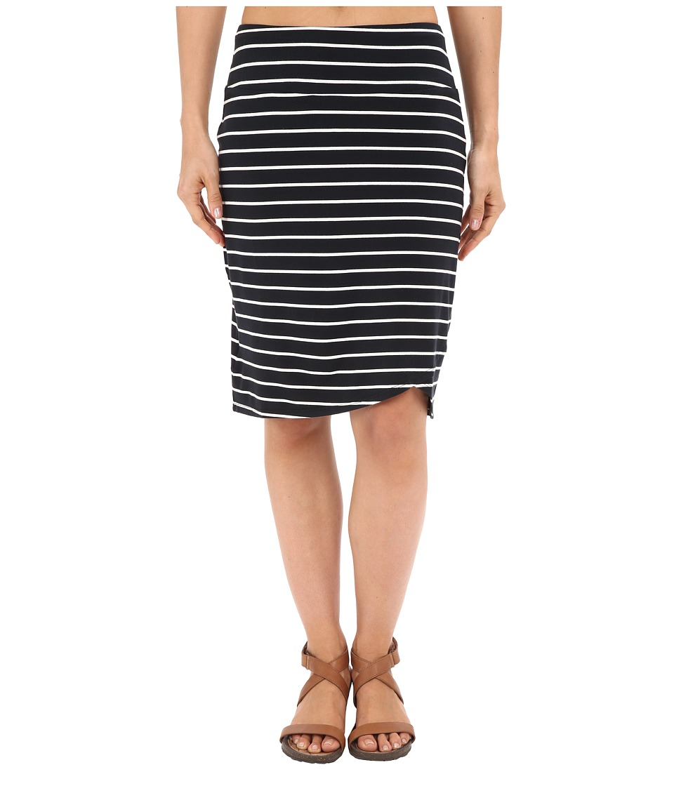 Columbia - All Who Wander Skirt (Black/White Stripe) Women's Skirt