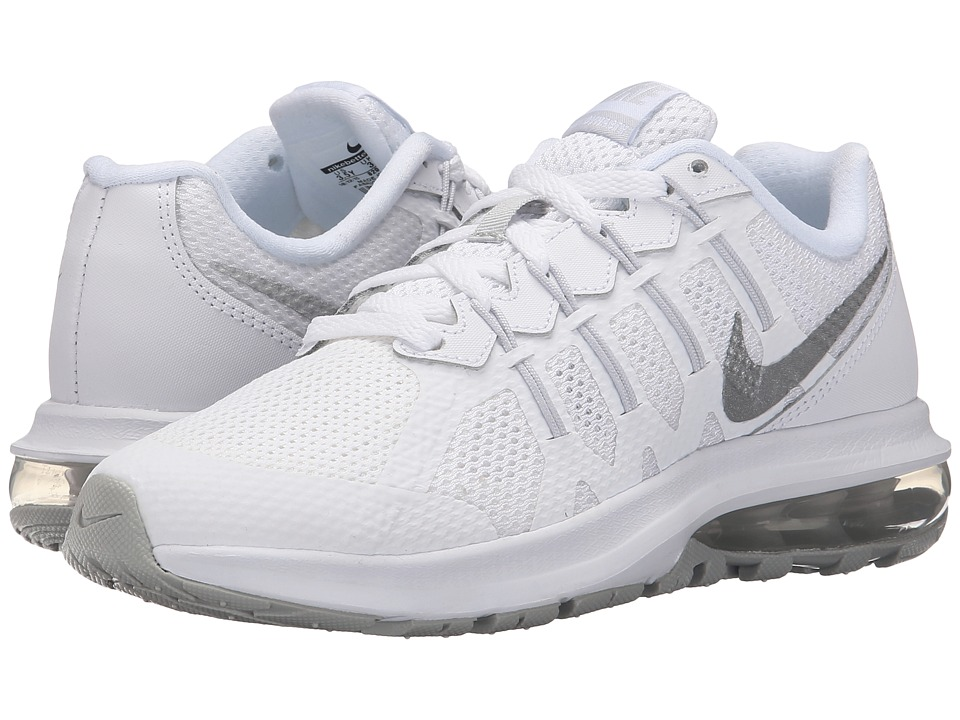 Nike Kids - Air Max Dynasty (Big Kid) (White/Pure Platinum/Metallic Silver) Boys Shoes