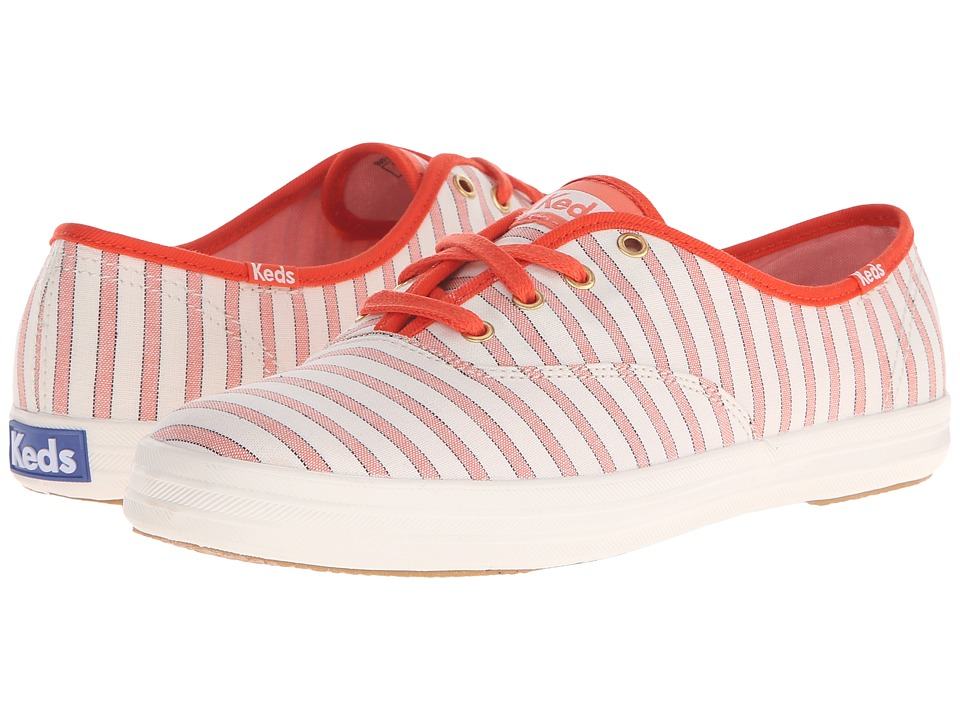 Keds Champion Cabana Stripe (Coral) Women