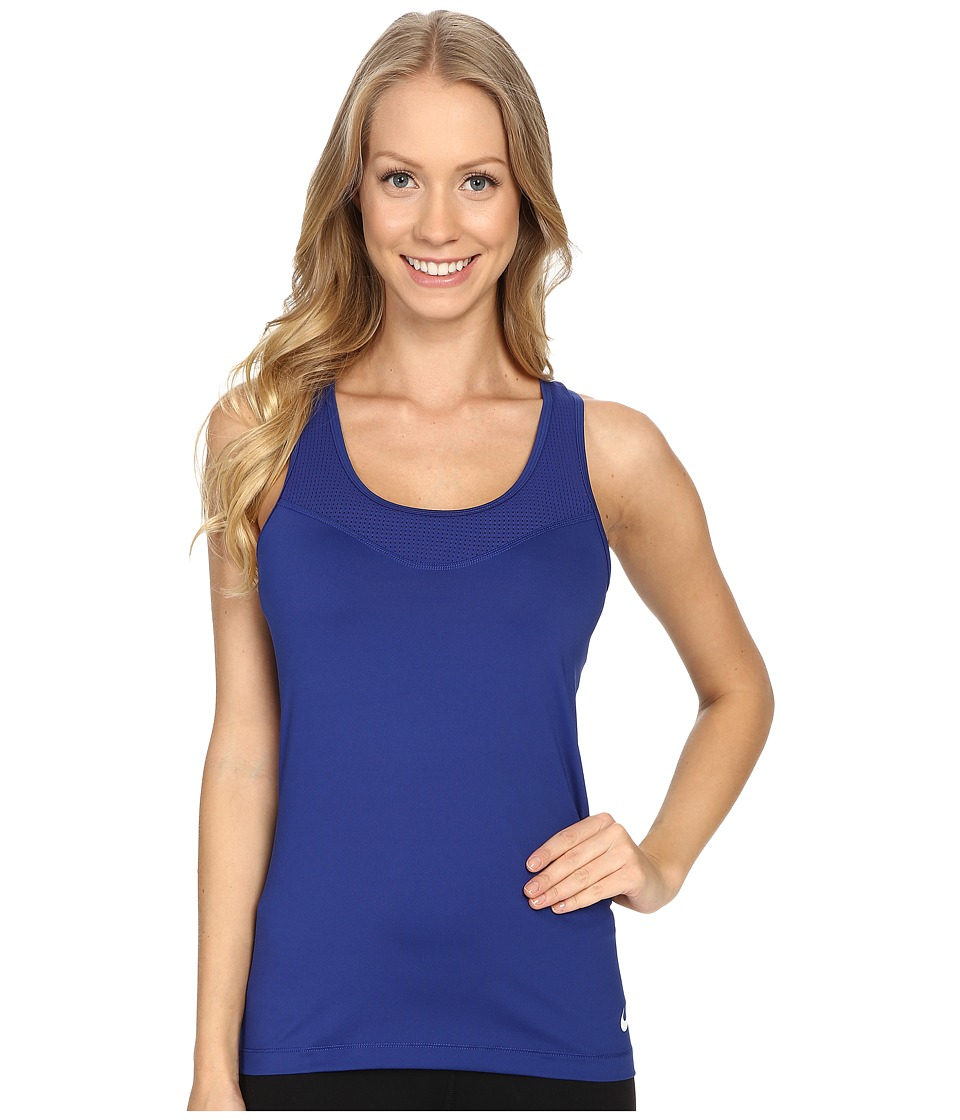 Nike Pro Hypercool Training Tank Top (Deep Royal Blue/White) Women