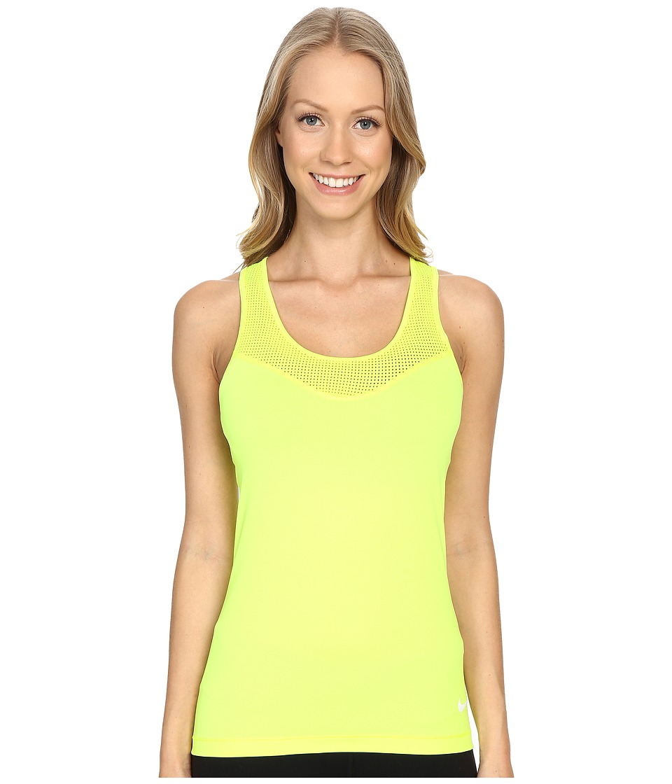 Nike - Pro Hypercool Training Tank Top (Volt/White) Women's Sleeveless