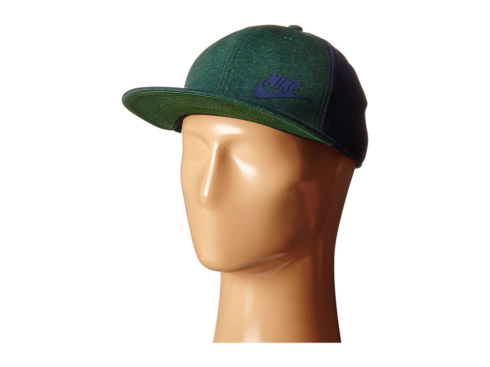 Nike - Tech Pack True Hat - Red (Gorge Green Heather/Obsidian/Gorge Green/Obsidian) Caps