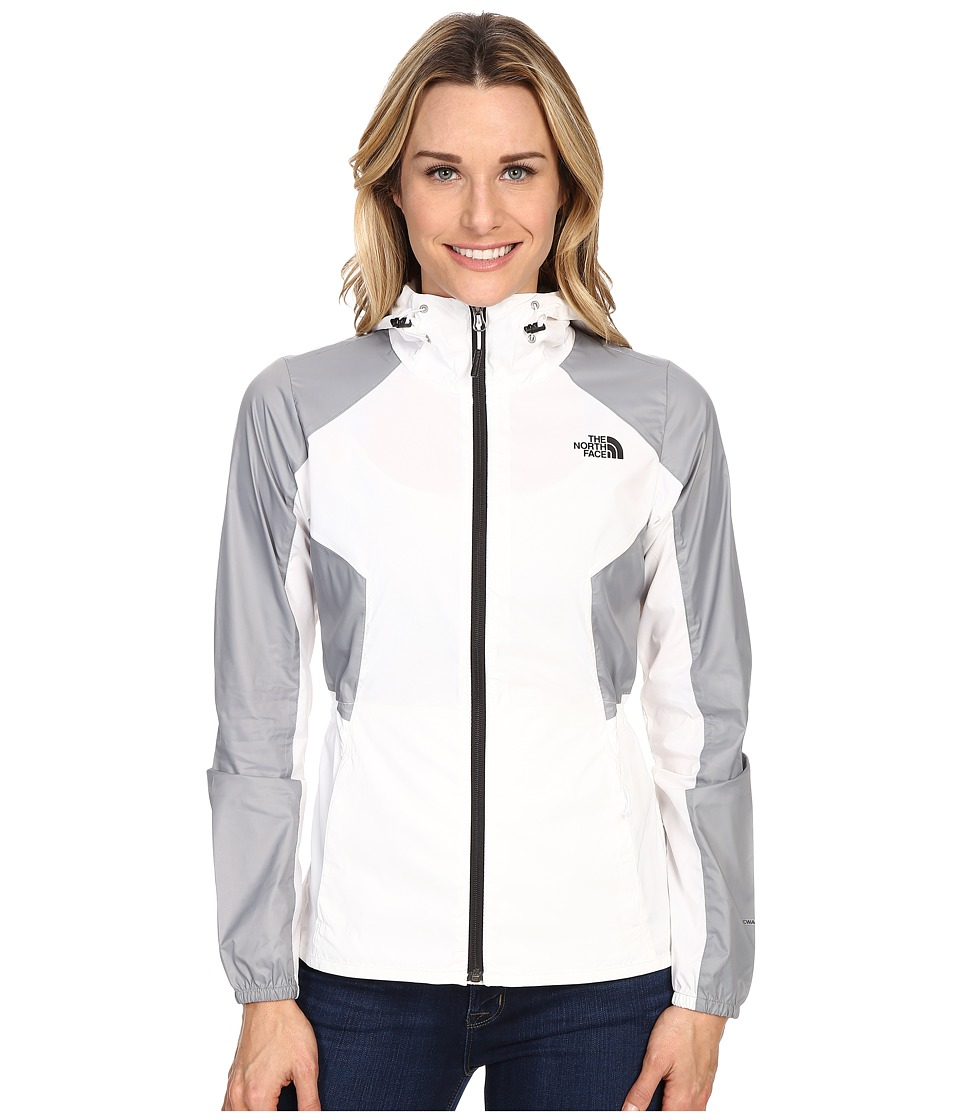 The North Face - Flyweight Hoodie (TNF White/Mid Grey) Women's Coat