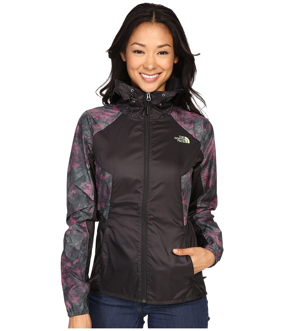 The North Face - Flyweight Hoodie (TNF Black/Laurel Wreath Green Rock Camo Print) Women's Coat