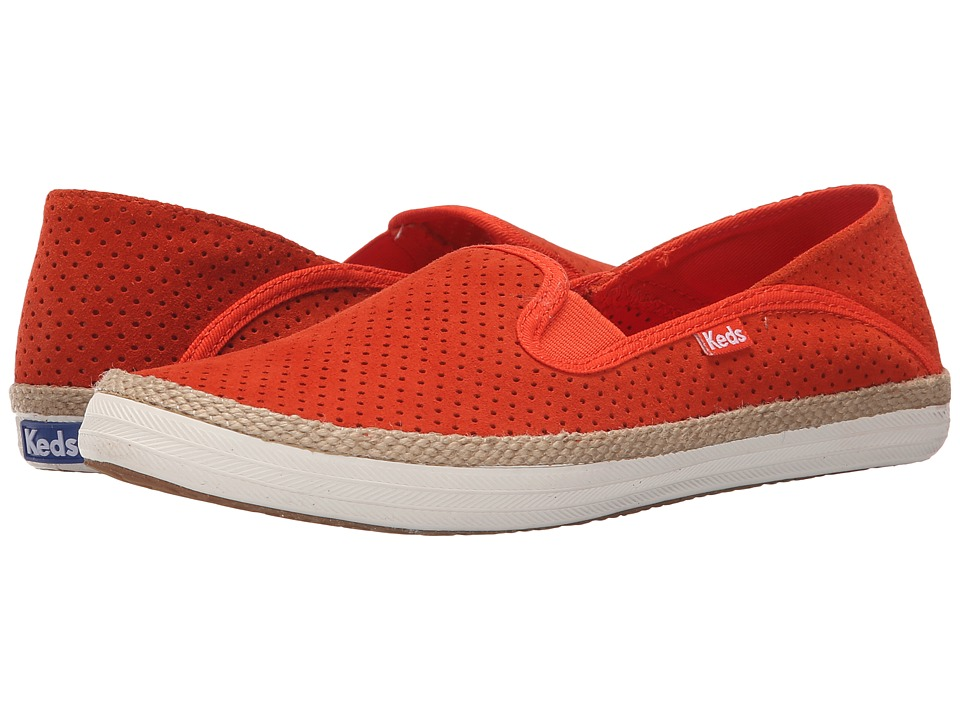 Keds - Crashback Perf Suede w/ Jute (Mandarin) Women's Slip on Shoes