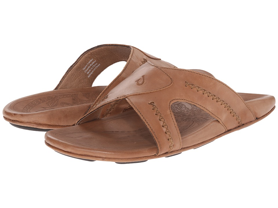 OluKai - Mea Ola Slide (Tan/Tan) Men's Sandals