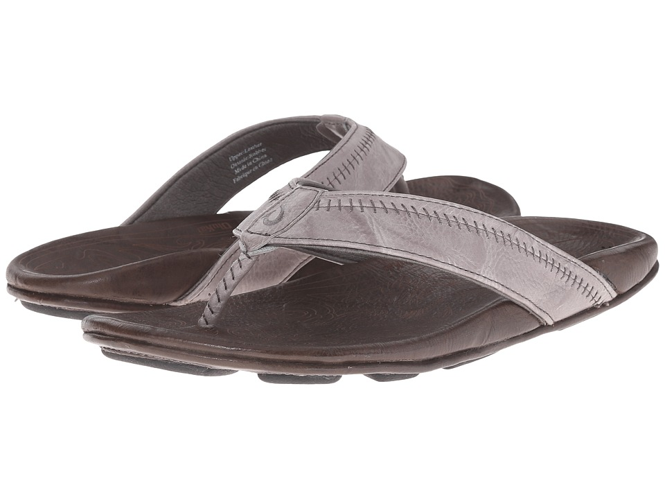 OluKai - Hiapo (Grey/Seal Brown) Men's Sandals