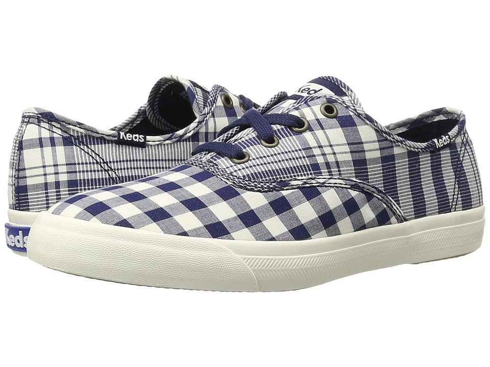 Keds - Triumph Gingham (Peacoat Navy) Women's Lace up casual Shoes