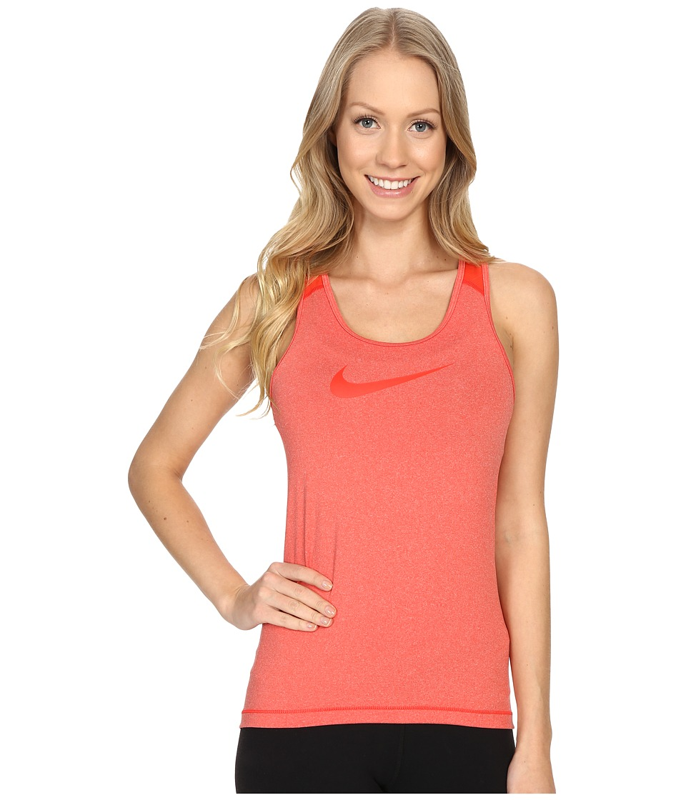 Nike - Pro Cool Training Tank Top (Light Crimson/Heather/Light Crimson) Women's Sleeveless