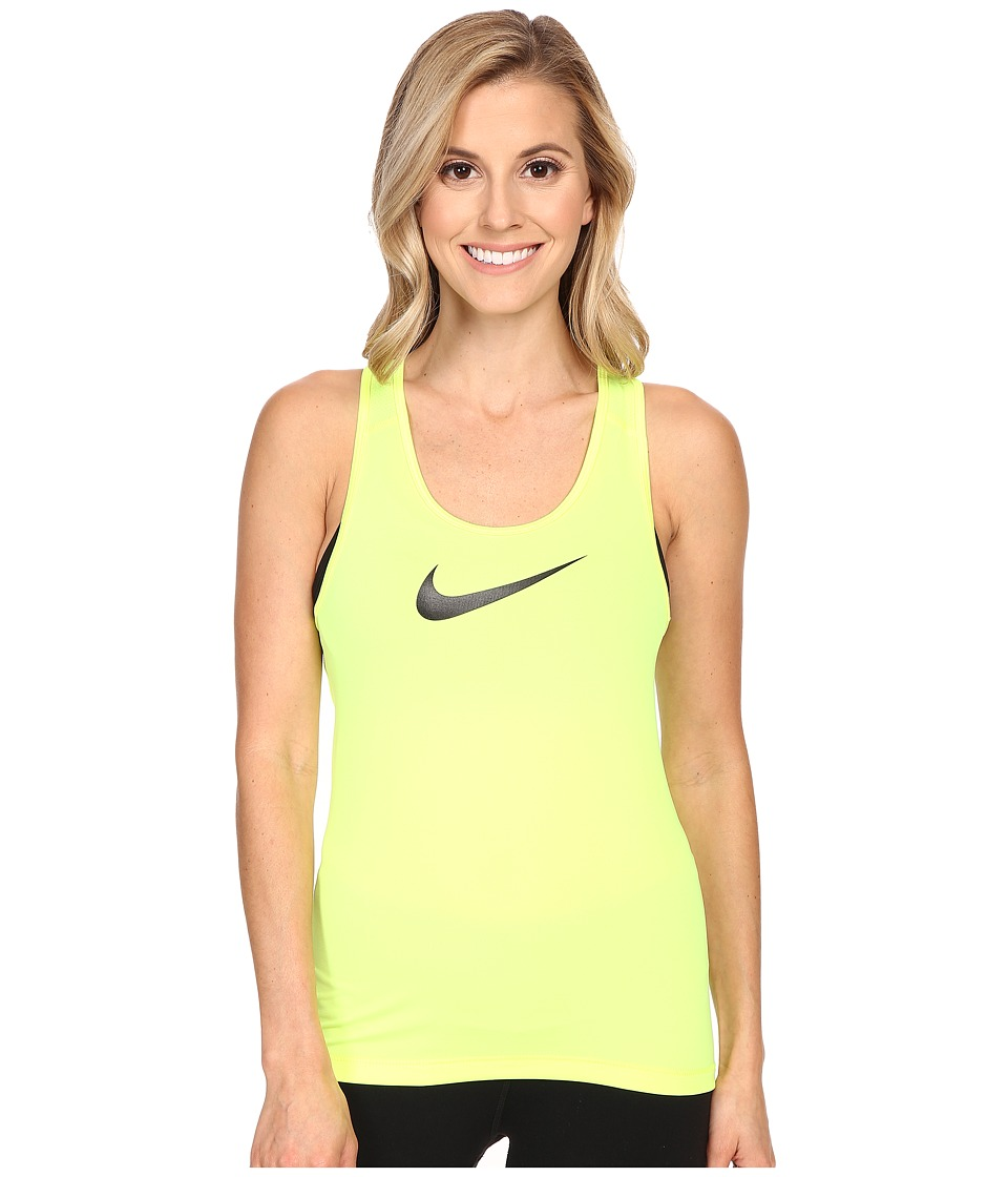 Nike - Pro Cool Training Tank Top (Volt/Black) Women's Sleeveless