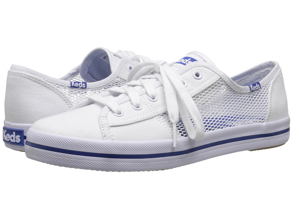 Keds - Kickstart Mesh (White) Women's Lace up casual Shoes
