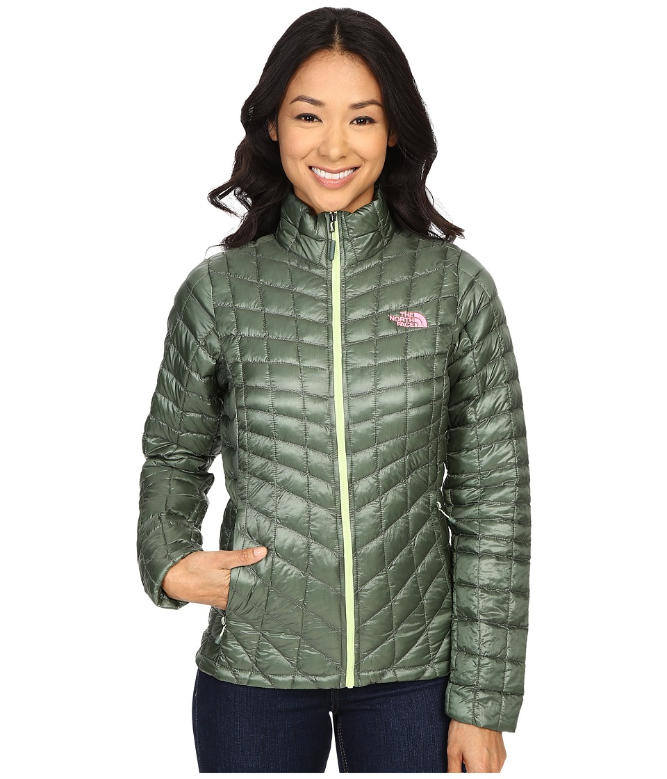The North Face - ThermoBall Full Zip Jacket (Laurel Wreath Green) Women's Coat