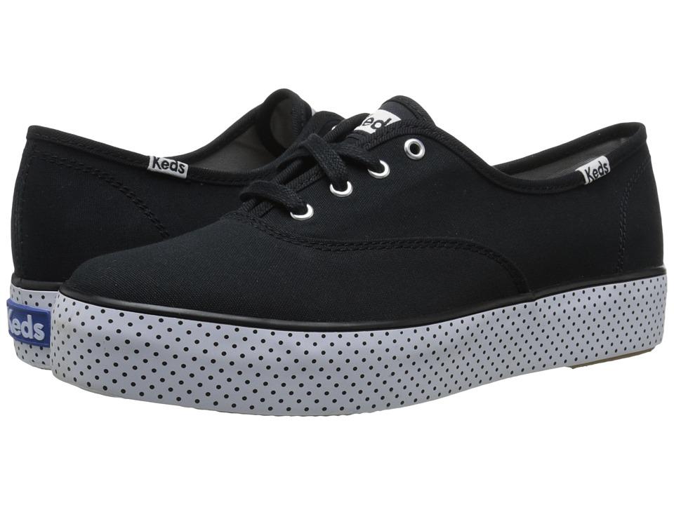 Keds - Triple Dot Foxing (Black) Women's Lace up casual Shoes