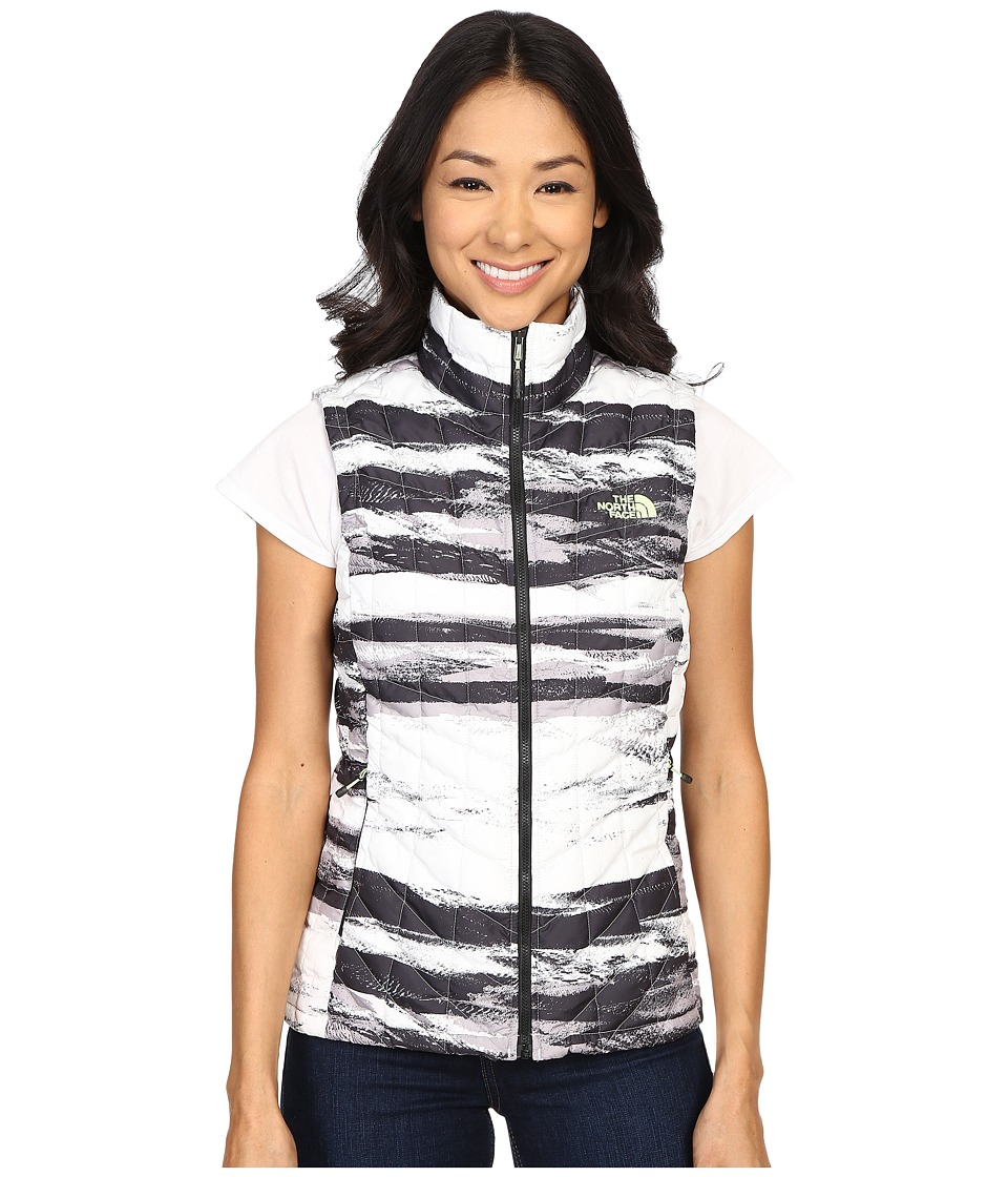 The North Face - ThermoBall Vest (TNF Black Desert Stripe/TNF White) Women's Vest