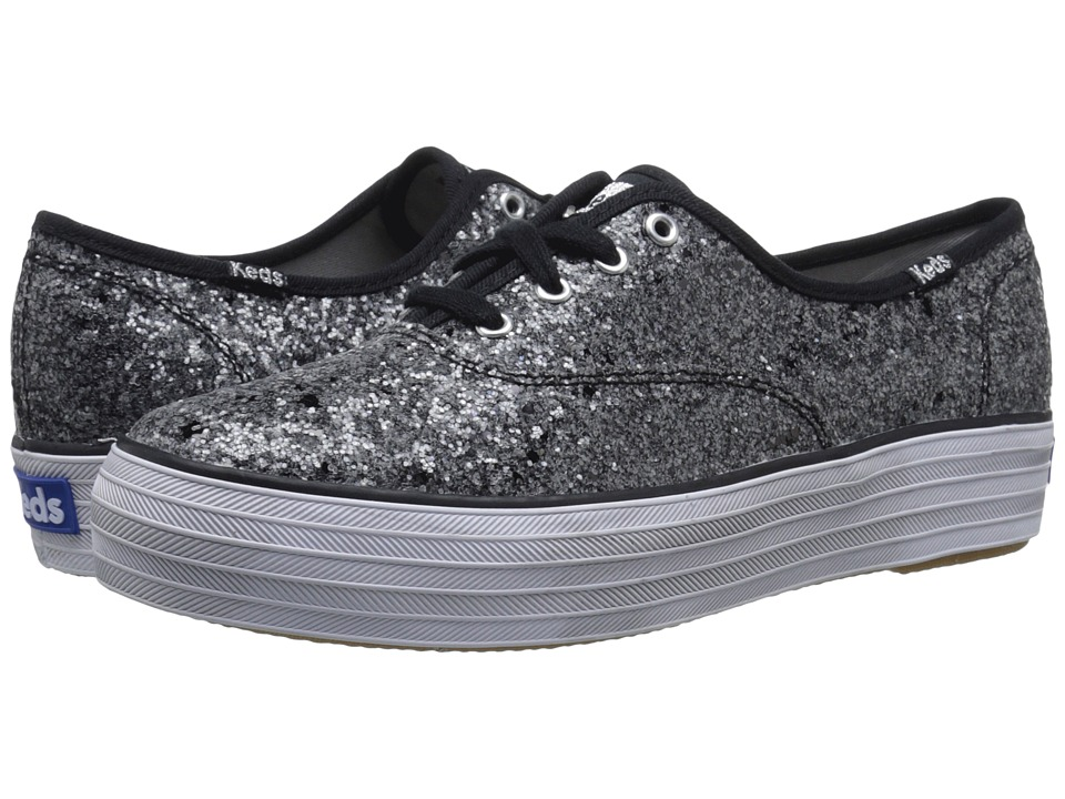Keds - Triple Glitter (Black) Women's Lace up casual Shoes