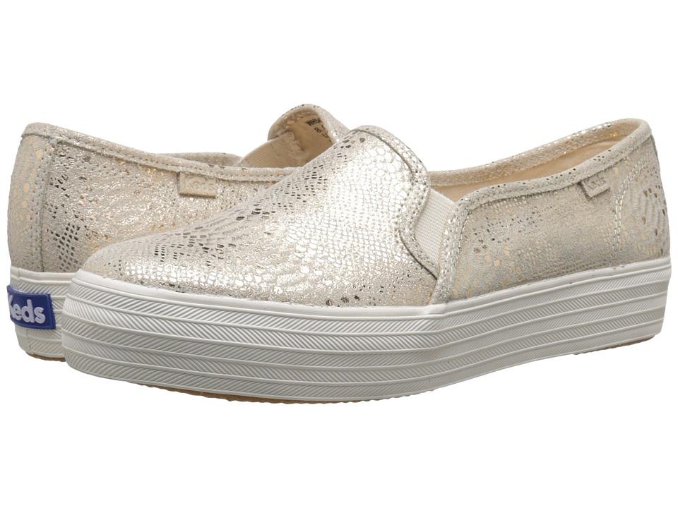 Keds - Triple Decker Exotic Shimmer (Gold) Women's Slip on Shoes