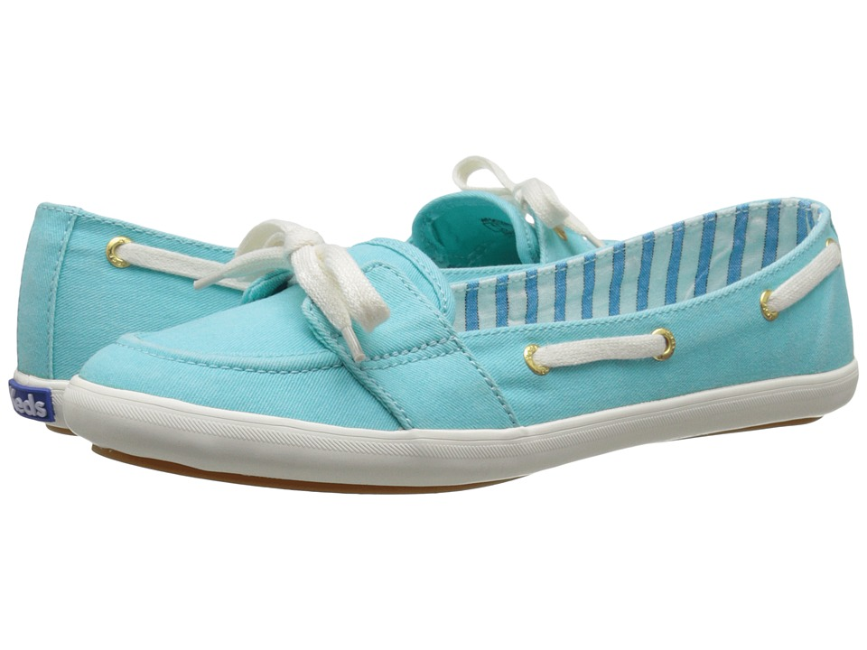 Keds - Teacup Boat Seasonal Solid (Aqua) Women