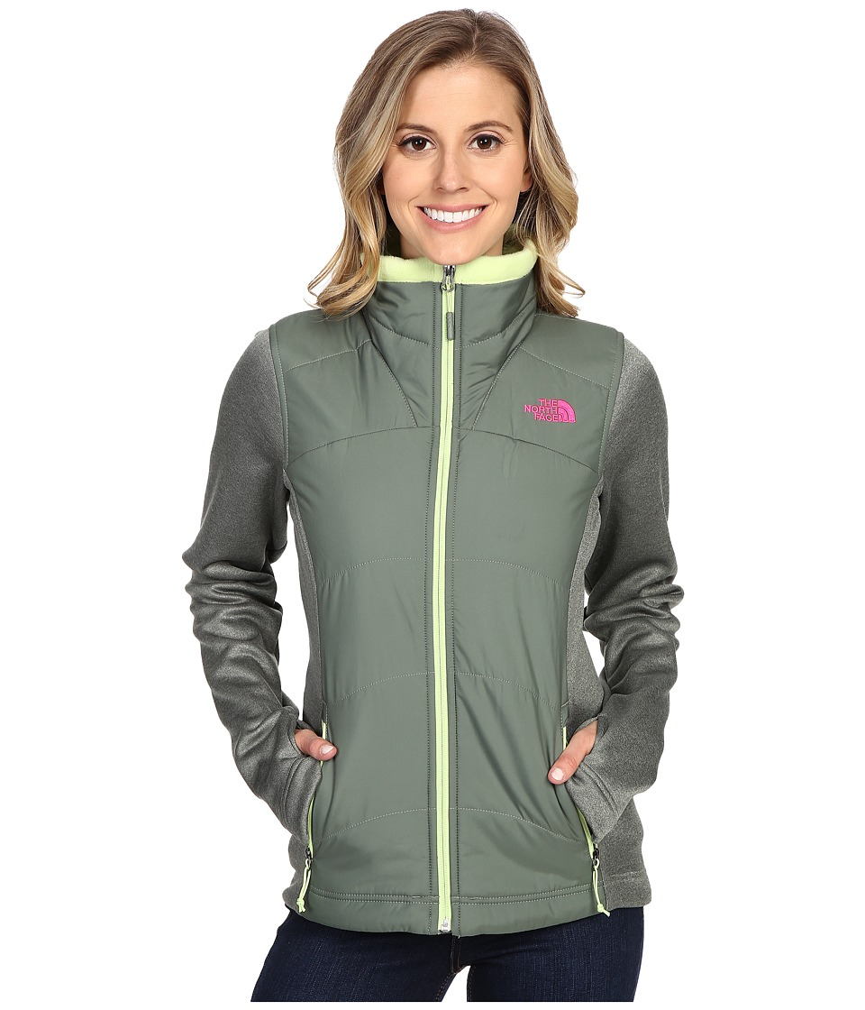 The North Face - Agave Mash-Up Jacket (Laurel Wreath Green/Laurel Wreath Green Heather) Women's Coat