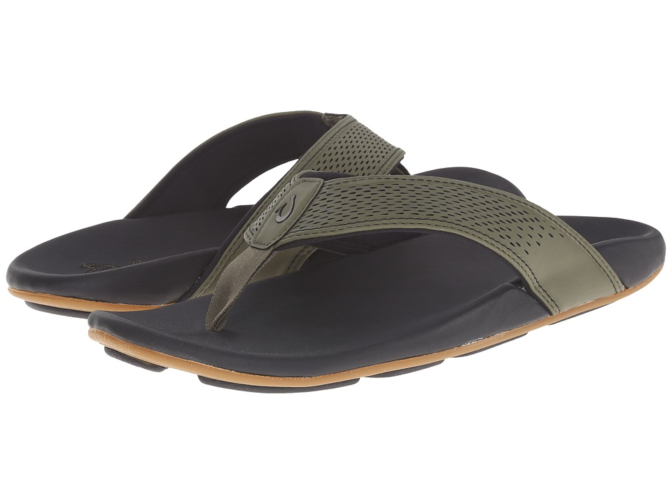 OluKai - Kekoa (Leaf/Black) Men's Sandals