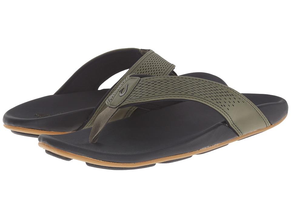 OluKai - Kekoa (Leaf/Black) Men's Sandals