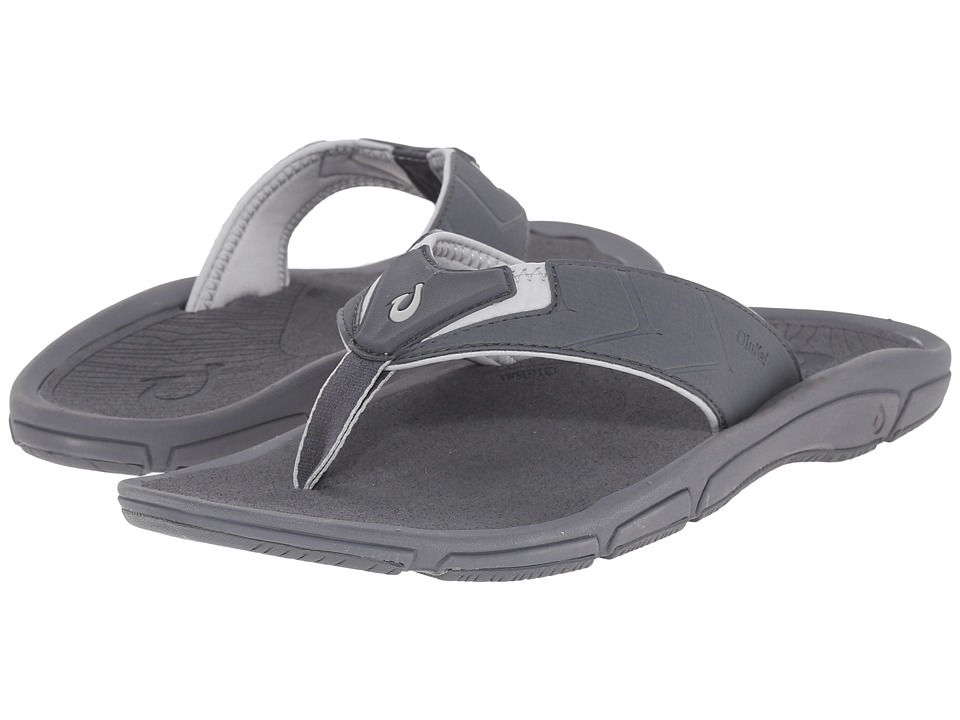 OluKai - Kaku (Charcoal/Charcoal) Men's Sandals
