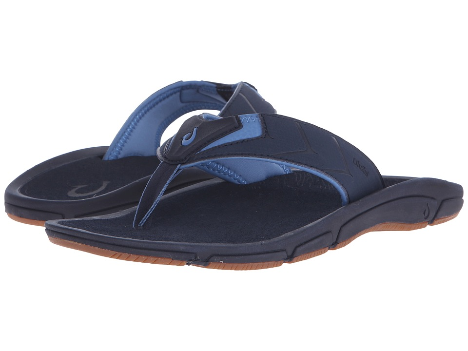 OluKai - Kaku (Trench Blue/Trench Blue) Men's Sandals
