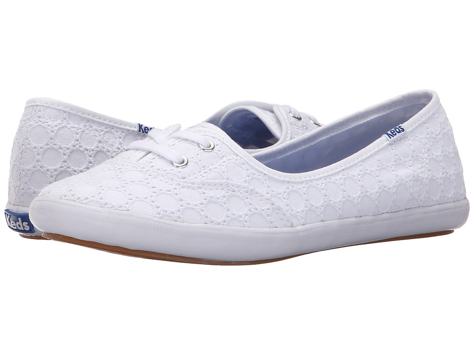 Keds - Teacup Eyelet (White) Women's Lace up casual Shoes