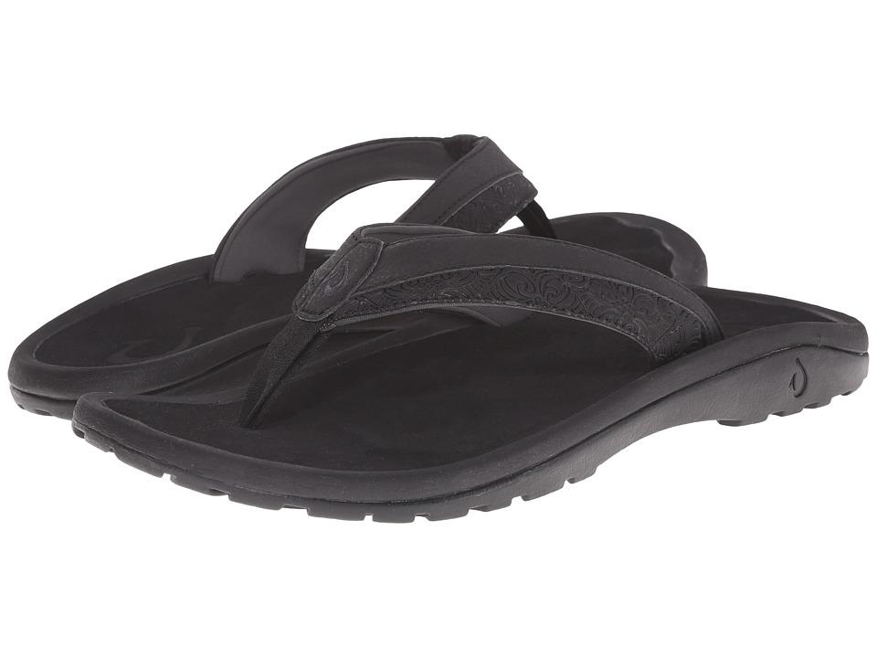 OluKai - 'Ohana Koa (Black/Black) Men's Sandals