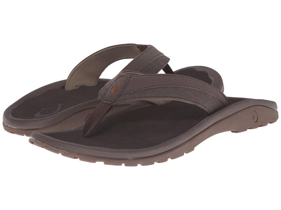 OluKai - 'Ohana Koa (Dark Java/Dark Java) Men's Sandals
