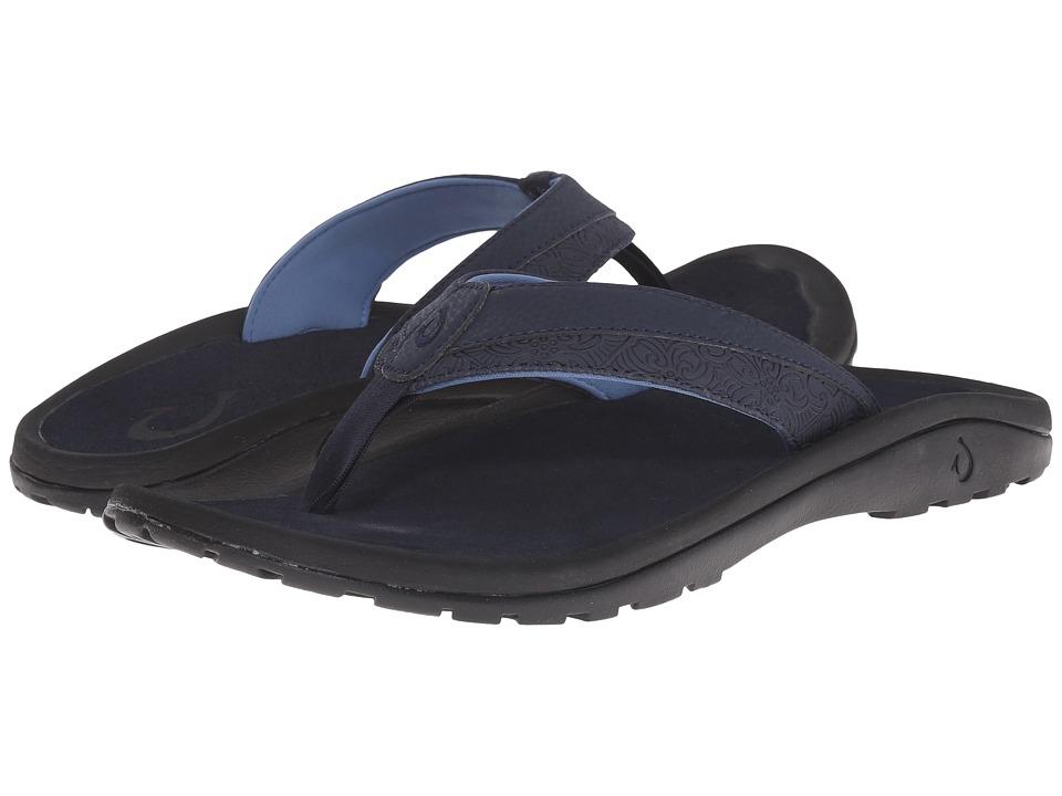 OluKai - 'Ohana Koa (Trench Blue/Trench Blue) Men's Sandals