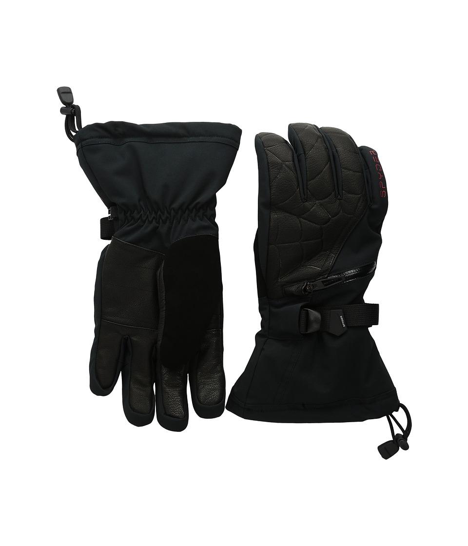 Spyder - Omega Conduct Ski Glove (Black/Volcano) Ski Gloves