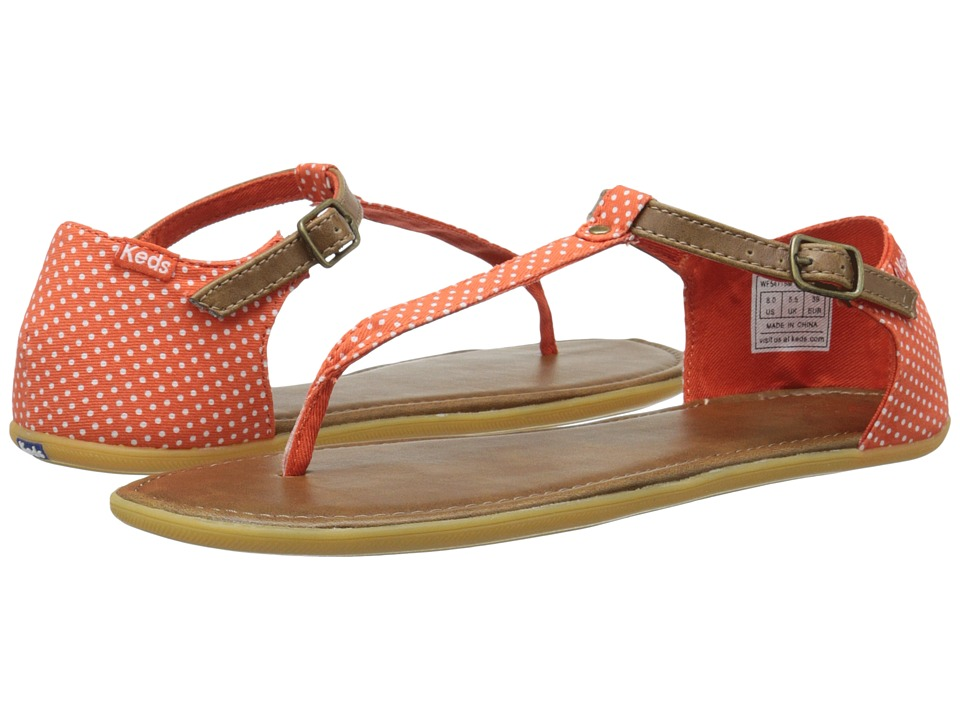 Keds - Tealight T-Strap Micro Dot (Mandarin) Women's Sandals