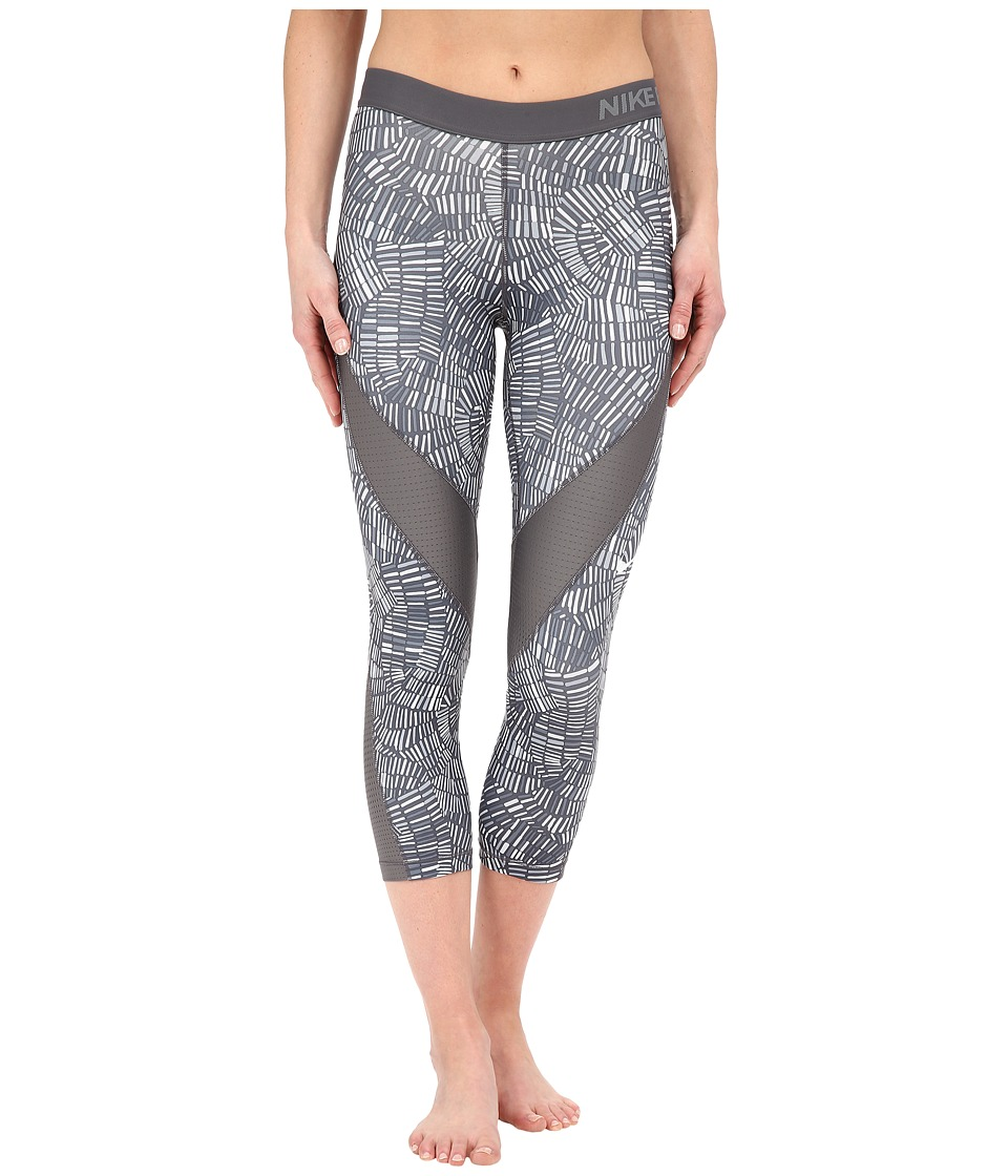 Nike - Pro Hypercool Tidal Multi Training Capri (Dark Grey/Cool Grey/Dark Grey/Black) Women's Capri