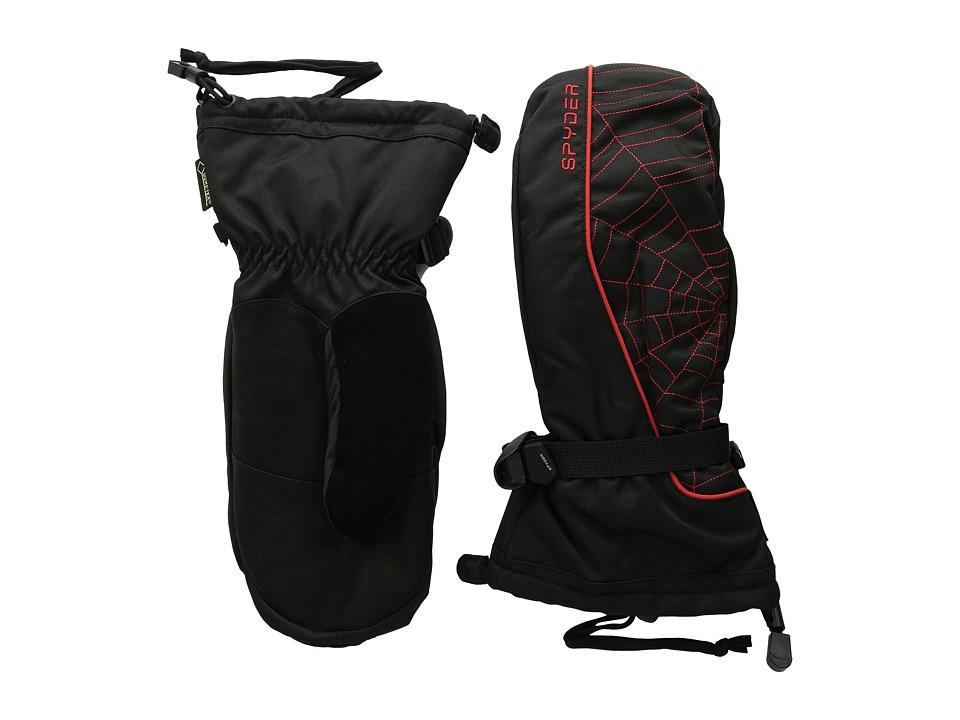 Spyder - Overweb Gore-Tex Ski Mitten (Black/Volcano) Over-Mits Gloves